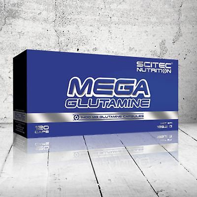 Scitec Nutrition Mega Glutamine 1400 Caps Amino Acid Strength Muscle Mass Gain