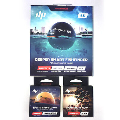Deeper 3.0 Smart Fish Finder 2017 Bundle Deal iOS iPhone & Android Carp Fishing
