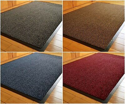Heavy Duty Barrier Mats Non Slip Rubber Large/ Small Rugs Mane Door Hall Kitchen