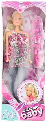 Steffi Love Welcome Baby Girls Toy Play Pregnant Dolly Doll + Accessories UK NEW