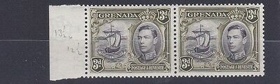 Grenada  1938 - 50  S G 158A 3D Black & Olive Green  Pair   M / H