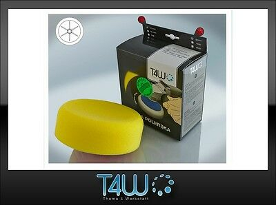 T4W Polishing pad sponge M14 150×50 mm /  yellow (semi-soft)