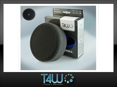 "T4W Polishing pad sponge ""velcro"" 150×50 mm /  black (soft)"