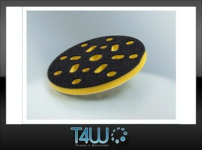 T4W Velcro Protection sanding polishing pad 150mm x 10mm / yellow (semi-soft)