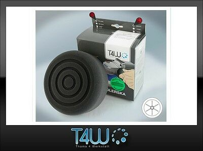 "T4W Polishing M14 pad ""milled"" sponge 150×50 mm / black (soft)"