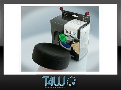 "T4W Polishing pad sponge ""profiled"" 150×50 mm M14 thread /  black (soft)"
