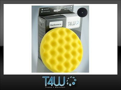 T4W Polishing velcro pad honeycombed sponge 150×25 mm / yellow (semi-soft)
