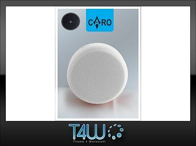 "T4W CARO Polishing pad sponge ""velcro"" 150×50 mm /  white (hard)"
