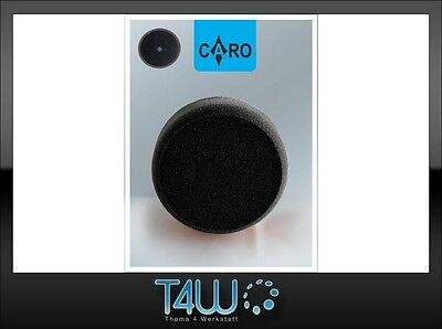 "T4W CARO Polishing pad sponge ""velcro"" 150×50 mm /  black (soft)"