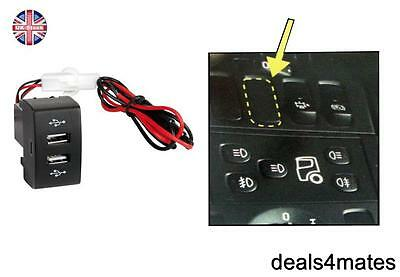 Panel Mount Dashboard Dual Usb Power Socket Charger Led Scania Series R P G Oem