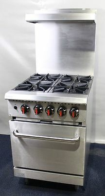 New Infernus 4 Burner Gas Range Cooker with Oven, commercial Restaurant cooker/