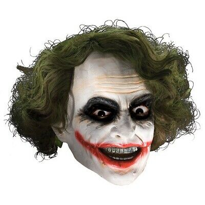 Joker Mask with Hair Adult Mens The Dark Knight Halloween Costume Accessory
