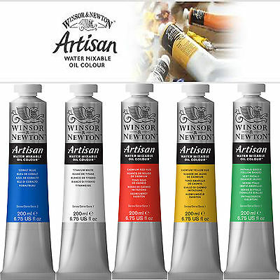 Winsor & Newton Artisan Water Mixable Oil Colour Paint 200ml for Winton