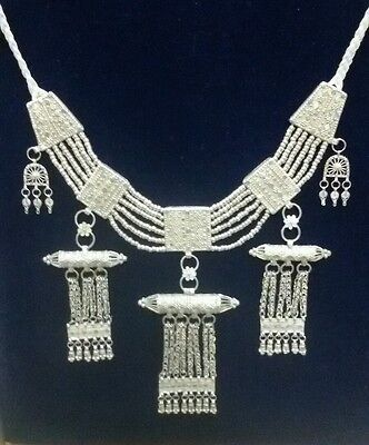 Rare Antique Yemenite Sterling Silver Necklace 243 Grams.