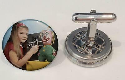 RetroCo BBC Test Card Television : IN COLOUR! Cufflinks