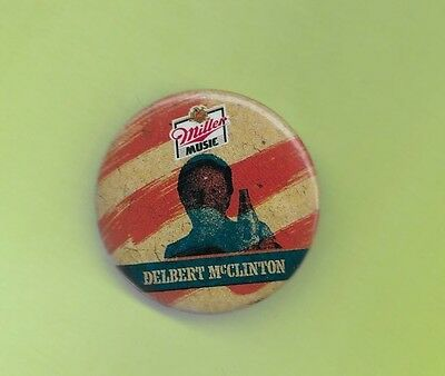 Delbert Mcclinton 1980's button badge pinback H
