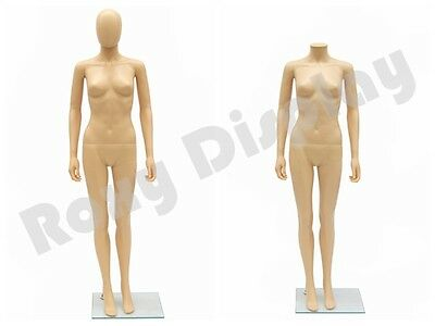 Female Plastic Manequin Manikin Dress Form Display #PS-SF6FEG