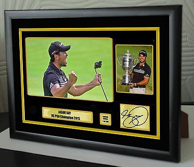"Jason Day Golf Framed Canvas Tribute Print Signed ""Great Gift"""