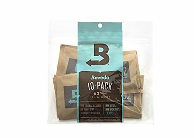 Boveda 62% Rh 2-Way Humidity Control, 8 g, 10 Pack, New, Free Shipping