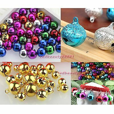 Metal Jingle Bells Bead 6mm 8mm 10mm 1/4 3/8 inch With Loop Use as Dangle Charms
