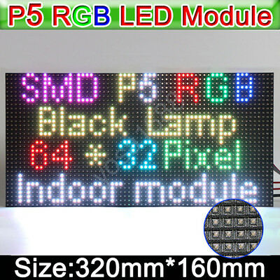 RGB P5 HD led screen display module 64x32 dots led display module matrix 32x16cm