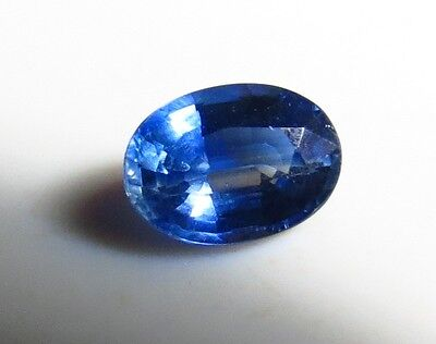 7x5 mm NATURAL BLUE KYANITE faceted OVAL CUT LOOSE GEMSTONE
