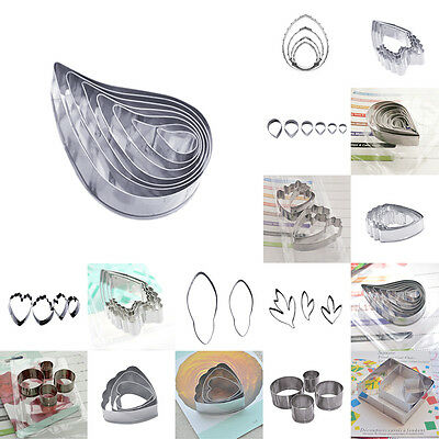 Stainless Steel Flower Leaf Biscuit Decor Cake kitche Cookie Cutter Baking Mold
