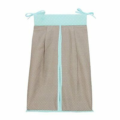 Trend Lab Cocoa Mint Diaper Stacker, Taupe, New, Free Shipping