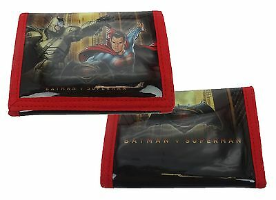 DC Comics Batman v Superman Tri-Fold Wallet | Purse with Coin Zip Compartment