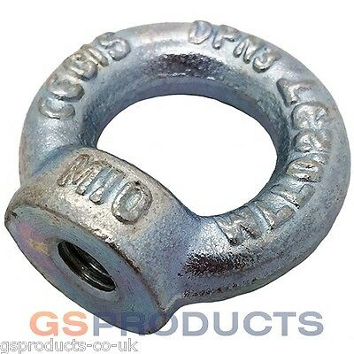 M12 Thread BZP Steel DIN 582 Lifting Eye Nut FREE POSTAGE!!!