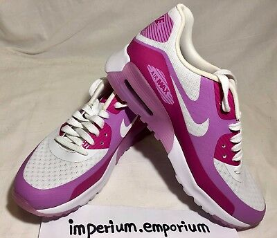a134bece8c NIKE WOMEN'S AIR Max 90 BR White/Pink Trainers Size UK 4.5 - $63.03 ...