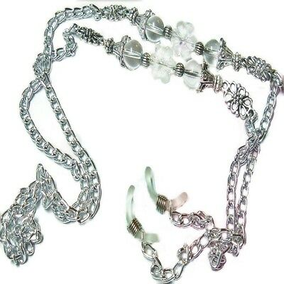 Reading eye glasses, Sun glasses, spectacle chain lanyard holder - Silver Chain