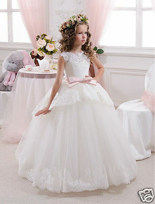 TU Communion Party Prom Princess Pageant Bridesmaid Wedding Flower Girl Dress
