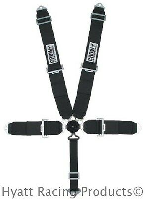 """Crow 50"""" Cam Lock 5-Point Auto Racing Safety Belts - Bolt In"""