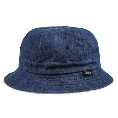 NEW BRIXTON BANKS Reversible Fitted Bucket Hat Mens Size M - Tan ... 483fc5a9d8fb