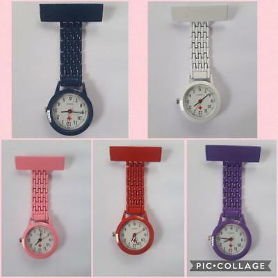 Top Quality Coloured Waterproof Plastic Nurses Fob Watch Brooch Ladies Nurse