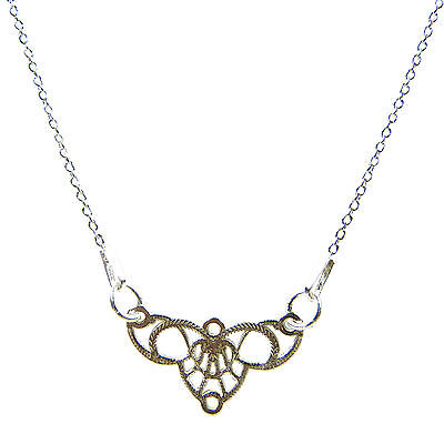 FASHIONS FOREVER® 925 Sterling Silver Butterfly Necklace-Pendant Handmade In UK