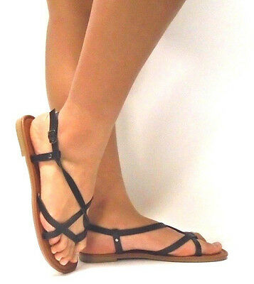 51a548dd11a New Women s Summer Gladiator Strappy Flat Flip Flops Sandals Shoes size  5  - 11