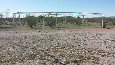 "30' BASEBALL / SOFTBALL STRAIGHT LEG BATTING CAGE 3/4"" FITTINGS ONLY *Free Ship*"