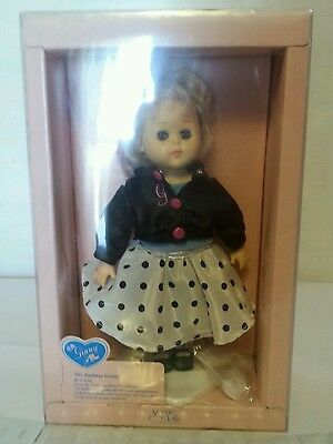 """Vintage Vogue Doll Ginny 8"""" 50's Fashion #71-3230 Doll with Stand & Box"""