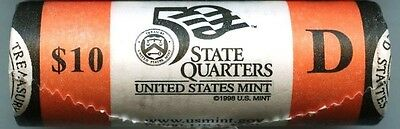 "2008-D Oklahoma State Quarter Unopened ""Beautiful"" Orange US Mint Coin Roll"