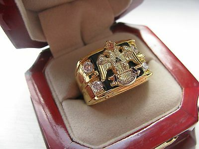 Superb NEW! Gents 33 Degree Crown Masons CREST Ring