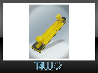 T4W Plastic yellow hand sanding block durable effective / 400mm x 70mm