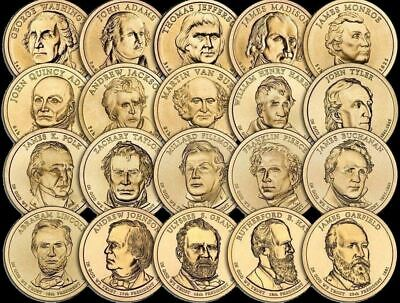 """A Lot of 10 Random Years """"Imperfect Uncirculated"""" Presidential Dollars US Coins"""