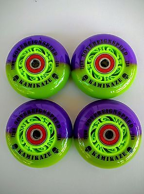 4-76mm Kamikaze Inline Wheels with Abec9 bearings-roller hockey blade sovereign8
