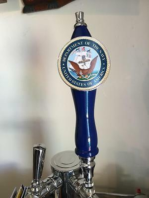 Brand New Never Used Pub Style US NAVY kegerator beer tap handle