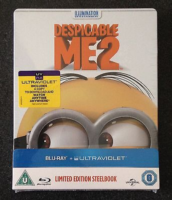 DESPICABLE ME 2 Blu-Ray SteelBook Zavvi UK Exclusive Region Free New OOP & Rare!