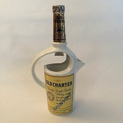 Vintage 1971 OLD CHARTER Kentucky Straight Bourbon Pitcher