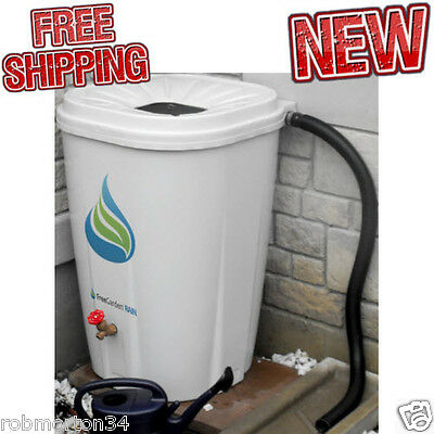 Rain Water Barrel Drum Plastic Collection Storage Garden 55 Gallon Environment  sc 1 st  PicClick & 55 GALLON RAINWATER Barrel Drum Rain Water Collection Saver Plastic ...