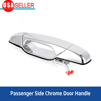 for 07-13 Chevy GMC Front Passenger Side RH Chrome Texture Exterior Door Handle